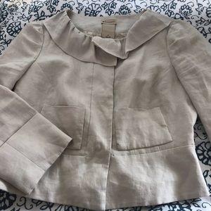 ANTHRO Elevenses Linen Blazer Jacket Pockets 6